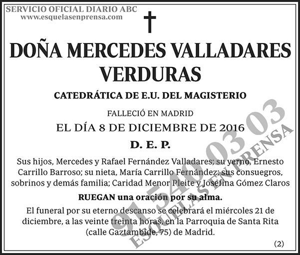 Mercedes Valladares Verduras